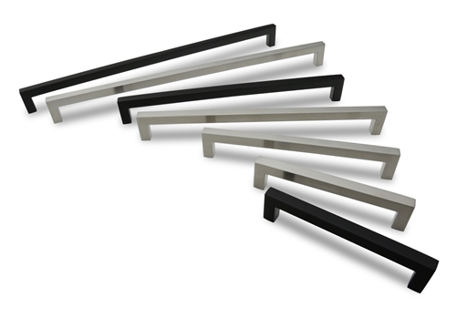 "METRO14 STAINLESS 288MM » 9/16"" SQ X 11-29/32"" OA, Brushed or Matte Black"