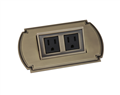 """CLASSICO"", TwoElectricalOutlets, S.NICKEL;Ant.BRASS"