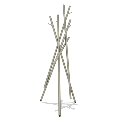 STYX Coat Stand, Brushed Stainless or Matte Black.